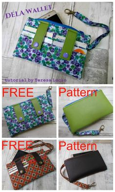 FREE Dela wallet pdf sewing pattern available for immediate download. DELA is a beginner pattern wallet featuring 6 card slots,1 zipper compartment for cell phone,money etc.