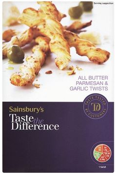 Sainsbury's Taste the Difference Puff Pastry Twists - Garlic & Parmesan (125g)