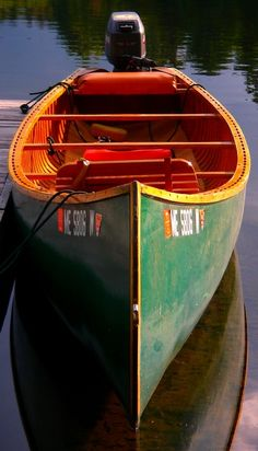 The Grand Lake Canoe is a fine piece of craftsmanship, and not likely ever to be replaced for fly fishing Maine's rivers and lakes. Old Town Canoe, Canoe Boat, Canoe Trip, Canoe And Kayak, Kayak Fishing, Fishing Boats, Plywood Boat, Wood Boats, Whitewater Kayaking
