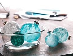 DIY:: 3 Simple Ways to Decorate Glass Ball Ornaments