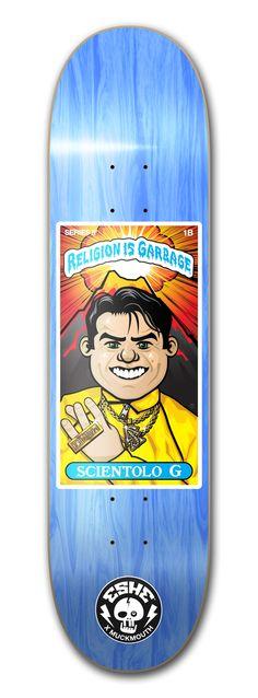 Scientolo G Skateboard Design, Skateboards, Religion, Graphic Design, Skateboard, Visual Communication, Skateboarding