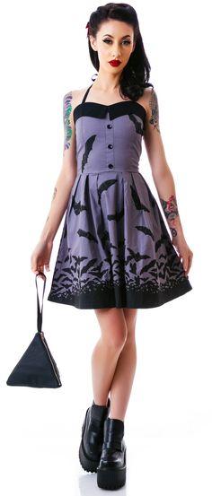 Sourpuss Spooksville Bats Dress   Dolls Kill