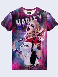 Harley Quinn T Shirt Mens Men Comics Joker Suicide Short Sleeve New Size  S-2XL d58e6fb05696