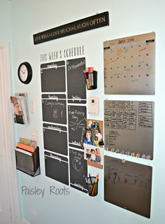 Wallternatives chalkboard vinyl wall decal wall decor for organization, schedule, and calendar - decorated by Paisley Roots