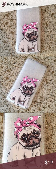 🐶CUTE IPHONE 6 PLUS CASE🐶 💙TRANSPARENT SOFT TPU IPHONE 6 Plus CASE WITH A DOG PRINT. 💙HIGH QUALITY. LIGHTWEIGHT! 💙SLIM FIT! EASY SNAP ON AND OFF INSTALLATION. 💙 Accessories Phone Cases