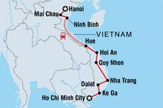Map of Cycle Vietnam including Vietnam