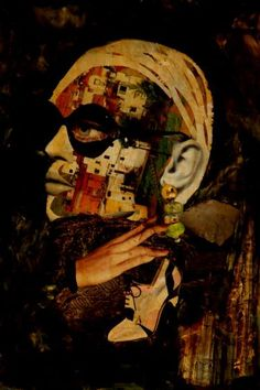 "Saatchi Art Artist CARMEN LUNA; Collage, ""93-COLLAGES Pintados. Citizen."" #art"