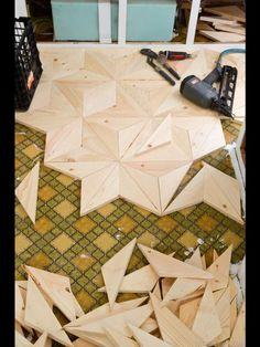 DIY Geometric Wood Flooring for our vintage trailer renovation   Vintage Revivals