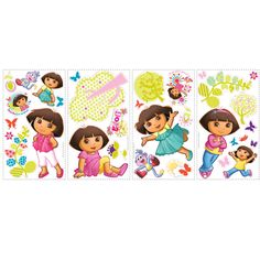 Dora the Explorer Peel and Stick Wall Decals -