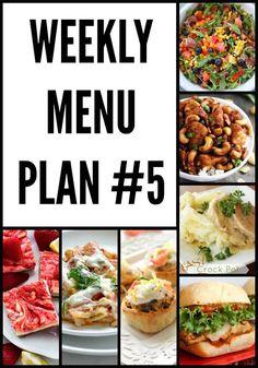 Weekly Menu Plan 5