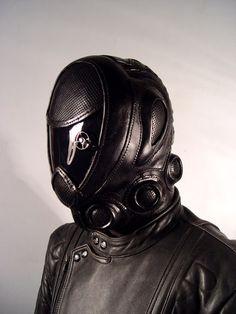 """Rider"" Art leather mask, cyberpunk, cyber style, futuristic clothing, future"