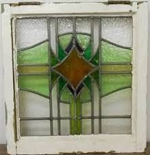 stained glass in old window frames for sale $175