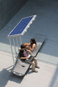 Simple Tips About Solar Energy To Help You Better Understand. Solar energy is something that has gained great traction of late. Both commercial and residential properties find solar energy helps them cut electricity c Urban Furniture, Street Furniture, Furniture Design, Furniture Ideas, Outdoor Furniture, Public Seating, Urban Park, Bench Designs, Smart City