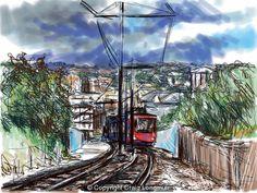 Craig Longmuir, 'Sheffield from Park Hill' - art landscape drawing ipad
