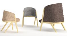 Milan 2013: Spanish designer Patricia Urquiola will present a collection of armchairs with wavy backs and seats made from rigid felt for Italian brand Moroso in Milan next week.