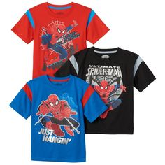 Toddler Boy 3-pk. Marvel Spider-Man Tees, Size: 2T, Red