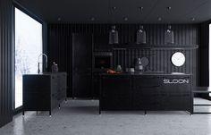 Cucina nera di design 16