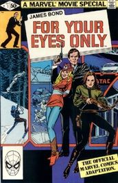 """Marvel Comics """"James Bond For Your Eyes Only"""" movie adaptation. Marvel Comic Books, Comic Movies, Marvel Movies, James Bond Books, James Bond Movies, Vintage Comic Books, Vintage Comics, Star Wars, Cult Movies"""