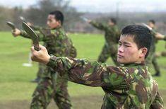 British Gurkha training
