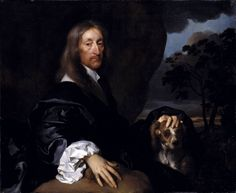 Gilbert Soest, Portrait of a Gentleman with a Dog, Probably Sir Thomas Tipping c.1660 Tate