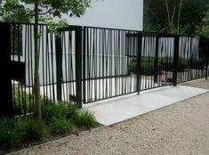 Backyard Fence Options and Backyard Fence Gate Design. Brick Fence, Front Yard Fence, Front Gates, Metal Fence, Fenced In Yard, Stone Fence, Side Gates, Fence Stain, Farm Fence