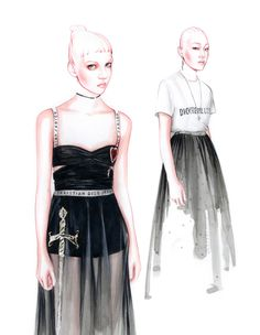 DIOR fashion illustration by António Soares