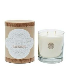 Cashmere Candle: This candle blends warm patchouli, vanilla, and lime.