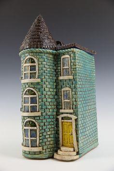 Teal Row House