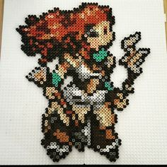 Horizon: Zero Dawn's Aloy Looks Incredible in Hama Beads - Push Square Pearler Beads, Fuse Beads, Stitch Games, Hobbies To Take Up, Cross Stitch Boards, Horizon Zero Dawn, Perler Bead Art, Amigurumi Patterns, Beading Patterns