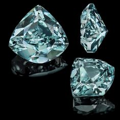 The Ocean Dream Diamond. 5.51-carat, fancy deep blue-green, shield-shaped diamond.