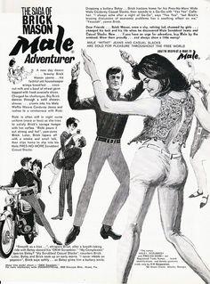 Vintage Men's Fashion Ad by retro-space, via Flickr. The Saga of Brick Mason, Male Adventurer!