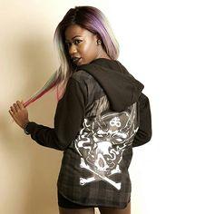 "CRMC X Julian Akbar ""Satan's Waitin'"" Checked Raglan Hood Available at www.crmc-clothing.co.uk   WE SHIP WORLDWIDE Model - The Hot Cocoa Photography by Pix Elation #vixen #raindowhair #pastelhair #alternative #pastelgoth #fashionstatement #pastelgothgirl #hairenvy #fashionista #fashion #fashionblogger #alternativeblackgirl #blackmodel #cute #need #beautiful #fashionblog #darkwear #lingerie #alternativegirl #alternativeteen #blackwear #ilovewearingblack #iloveblack #love #loveblack"