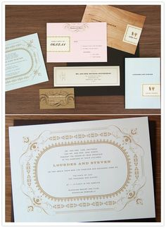 Polished, classic wedding invitation set by Paper + Cup. I like everything BUT the actual invitiation, really.