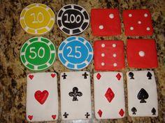 1 DZ Casino Poker Sugar Cookies. $26.00, via Etsy.