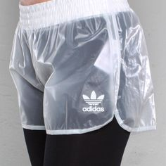 Adidas plastic shorts. Well these are different and not seen before!