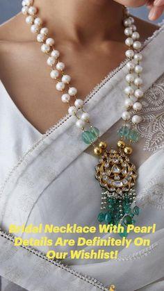 Jewelry Design Earrings, Gold Earrings Designs, Gold Jewellery Design, Bead Jewellery, Beaded Jewelry, Beaded Necklaces, Wedding Necklaces, Necklace Designs, Jewlery
