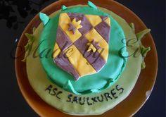 Gâteau avec le blason de Saulxures Les Nancy à l'occasion de la fête du foot