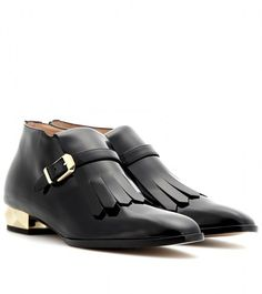 Valentino ~ Studded Patentleather Ankle Boots