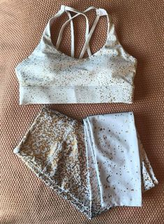 Check out this gold and white leggings and the sports bra! Below are the links to both of these beautiful pieces! White Leggings, Fitness Apparel, Active Wear, Rompers, Bra, Sports, Check, Gold, How To Wear