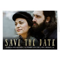 #glitter - #Save The Date | Chic Unique Picture Card