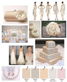 Blush Pink, Ivory, Champagne, and Peach Wedding Inspiration Board! by lelia