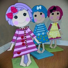 Lalaloopsy family  wood project complete√