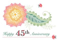 Wedding Anniversary Flower Paisley Lady Bugs Forty Five card. Personalize any greeting card for no additional cost! Wedding Anniversary Wishes, Anniversary Flowers, Anniversary Gifts For Husband, 30th Anniversary, Happy Wedding Wishes, Lady Bugs, Paisley, Templates, Abstract Photos