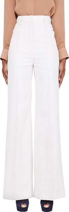 VIKTOR & ROLF White Silk Trouser. #viktorrolf #cloth #trouser