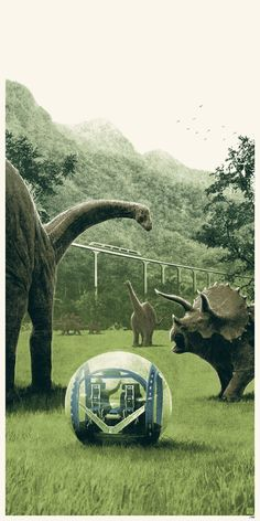 The JW Gyrosphere Ride Near The Triceratops And Apatosaurus' Herds ( Ft. Stegosaurus ).