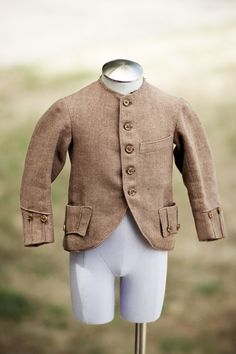 Antique Childs Tweed Jacket from the Civil War Era with Buttons