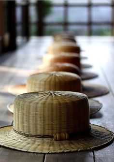 Japanese bamboo hat by Taketora