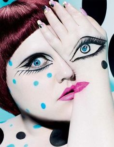 make up art, Beth Ditto! LOVE HER!