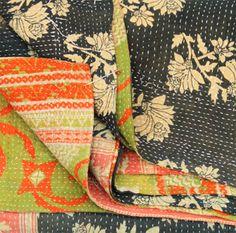 kantha quilt, indian textile
