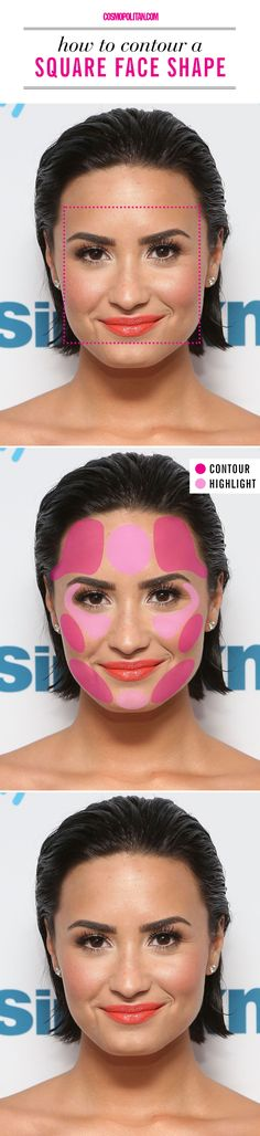 How to contour if you have a square face shape.